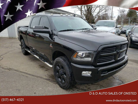 2015 RAM Ram Pickup 2500 for sale at D & D Auto Sales Of Onsted in Onsted   Brooklyn MI