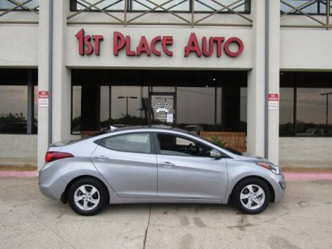 2015 Hyundai Elantra for sale at First Place Auto Ctr Inc in Watauga TX
