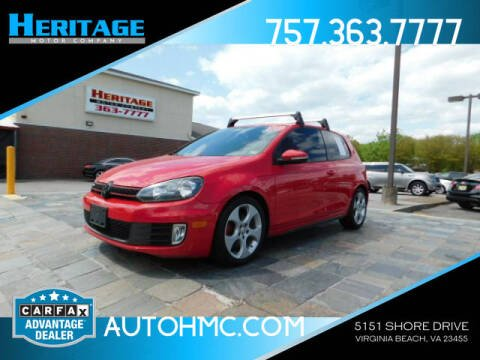 2010 Volkswagen GTI for sale at Heritage Motor Company in Virginia Beach VA