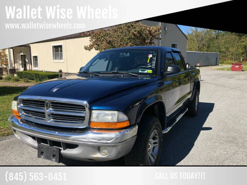 2002 Dodge Dakota for sale at Wallet Wise Wheels in Montgomery NY