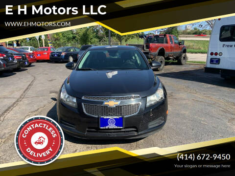 2012 Chevrolet Cruze for sale at E H Motors LLC in Milwaukee WI