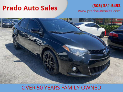 2016 Toyota Corolla for sale at Prado Auto Sales in Miami FL