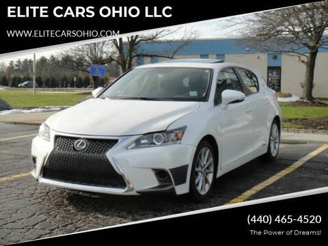 2013 Lexus CT 200h for sale at ELITE CARS OHIO LLC in Solon OH
