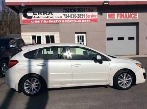 2013 Subaru Impreza for sale at Cerra Automotive LLC in Greensburg PA