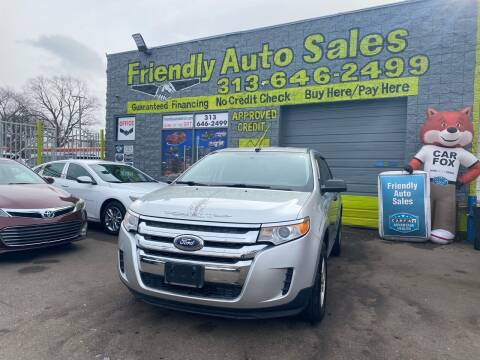 2013 Ford Edge for sale at Friendly Auto Sales in Detroit MI