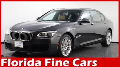 2015 BMW 7 Series for sale at Florida Fine Cars - West Palm Beach in West Palm Beach FL