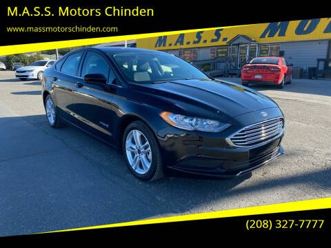 2018 Ford Fusion Hybrid for sale at M.A.S.S. Motors Chinden in Garden City ID