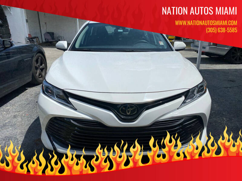 2019 Toyota Camry for sale at Nation Autos Miami in Hialeah FL