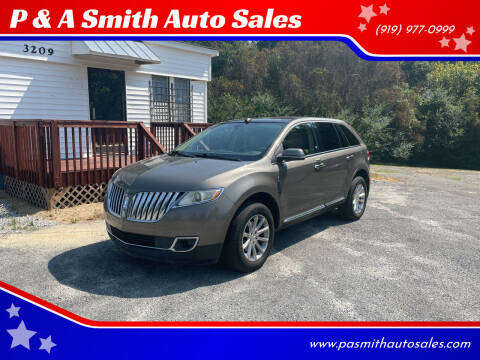 2012 Lincoln MKX for sale at P & A Smith Auto Sales in Garner NC