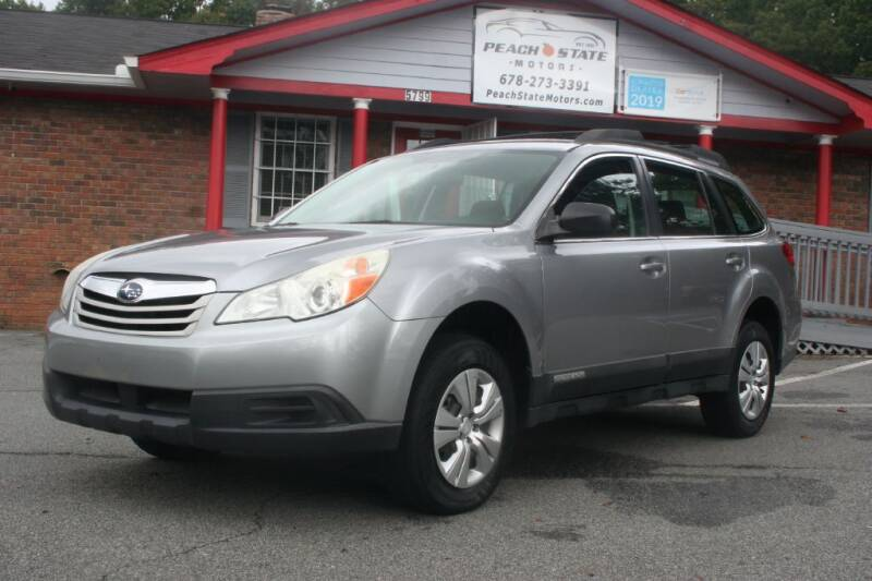 2010 Subaru Outback for sale at Peach State Motors Inc in Acworth GA