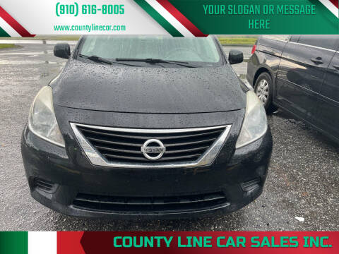 2012 Nissan Versa for sale at County Line Car Sales Inc. in Delco NC
