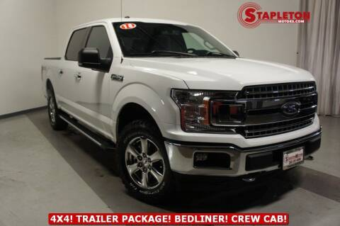 2018 Ford F-150 for sale at STAPLETON MOTORS in Commerce City CO