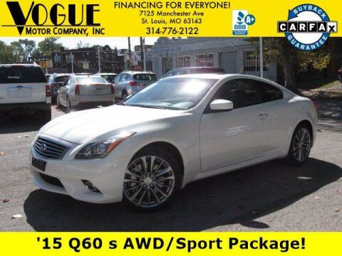 2015 Infiniti Q60 Coupe for sale at Vogue Motor Company Inc in Saint Louis MO