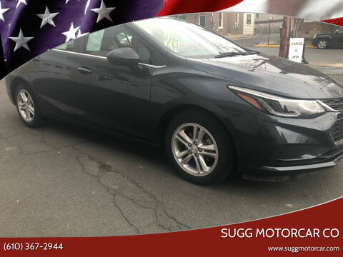 2018 Chevrolet Cruze for sale at Sugg Motorcar Co in Boyertown PA