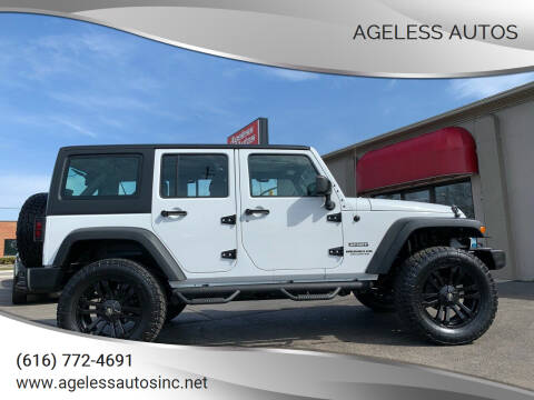 2013 Jeep Wrangler Unlimited for sale at Ageless Autos in Zeeland MI