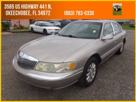 2002 Lincoln Continental for sale at M & M AUTO BROKERS INC in Okeechobee FL