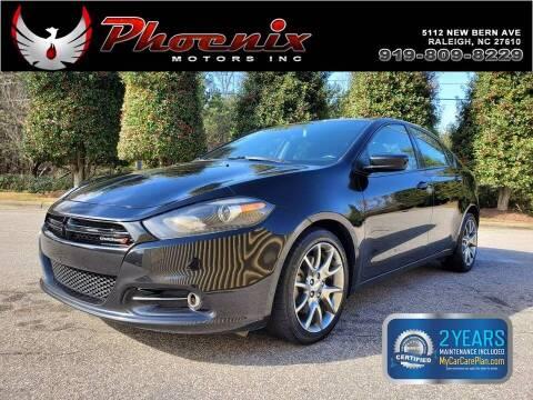 2015 Dodge Dart for sale at Phoenix Motors Inc in Raleigh NC