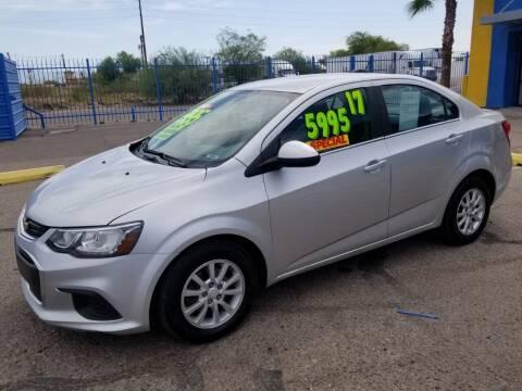 2017 Chevrolet Sonic for sale at CAMEL MOTORS in Tucson AZ