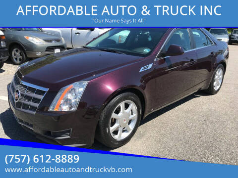 2009 Cadillac CTS for sale at AFFORDABLE AUTO & TRUCK INC in Virginia Beach VA