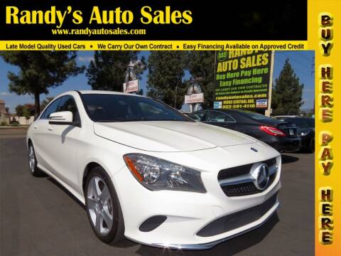 2017 Mercedes-Benz CLA for sale at Randy's Auto Sales in Ontario CA