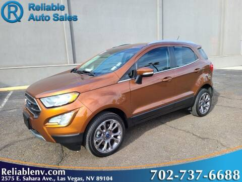 2018 Ford EcoSport for sale at Reliable Auto Sales in Las Vegas NV