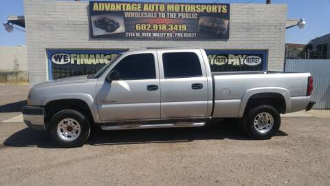2004 Chevrolet Silverado 2500HD for sale at Advantage Auto Motorsports in Phoenix AZ