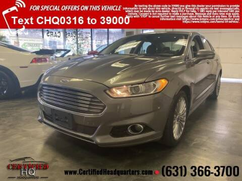 2013 Ford Fusion for sale at CERTIFIED HEADQUARTERS in St James NY
