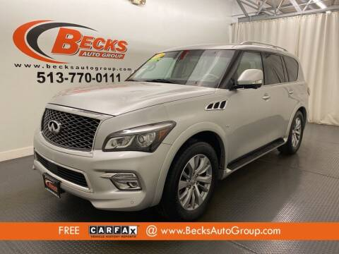 2016 Infiniti QX80 for sale at Becks Auto Group in Mason OH