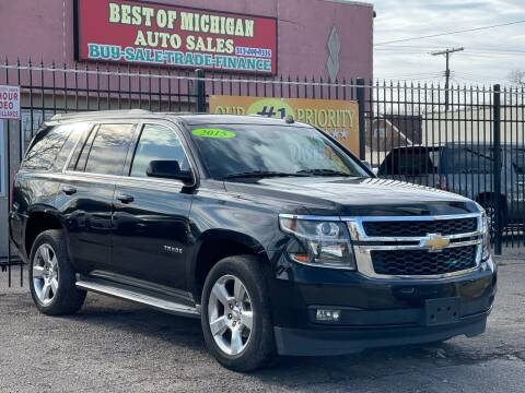2015 Chevrolet Tahoe for sale at Best of Michigan Auto Sales in Detroit MI