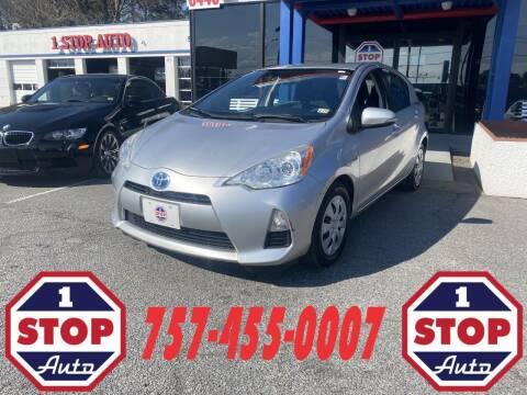 2012 Toyota Prius c for sale at 1 Stop Auto in Norfolk VA
