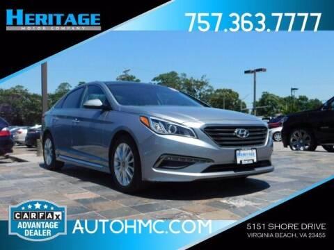 2015 Hyundai Sonata for sale at Heritage Motor Company in Virginia Beach VA