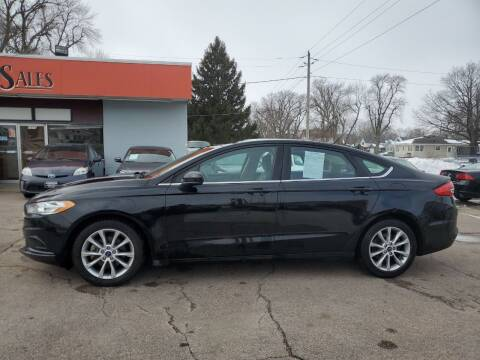 2017 Ford Fusion for sale at RIVERSIDE AUTO SALES in Sioux City IA