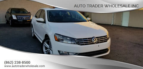 2012 Volkswagen Passat for sale at Auto Trader Wholesale Inc in Saddle Brook NJ