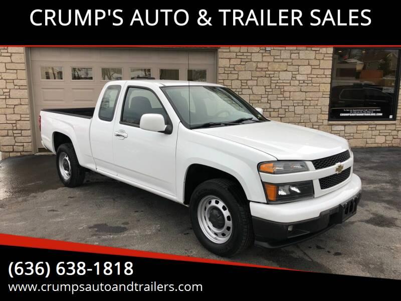 2010 Chevrolet Colorado for sale at CRUMP'S AUTO & TRAILER SALES in Crystal City MO