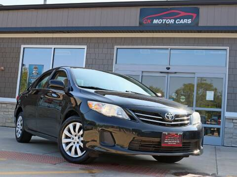 2013 Toyota Corolla for sale at CK MOTOR CARS in Elgin IL