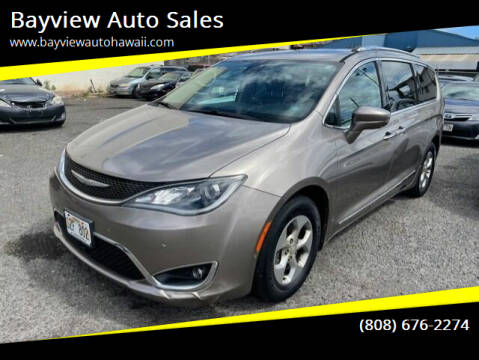 2017 Chrysler Pacifica for sale at Bayview Auto Sales in Waipahu HI