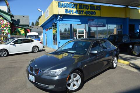 2008 BMW 5 Series for sale at Earnest Auto Sales in Roseburg OR