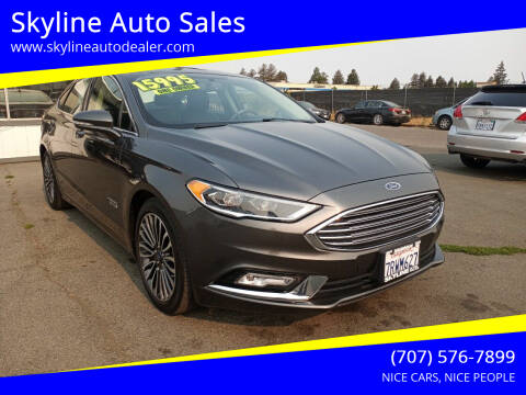 2017 Ford Fusion Energi for sale at Skyline Auto Sales in Santa Rosa CA