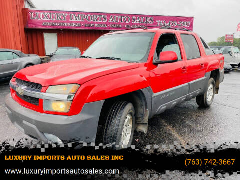 2004 Chevrolet Avalanche for sale at LUXURY IMPORTS AUTO SALES INC in North Branch MN