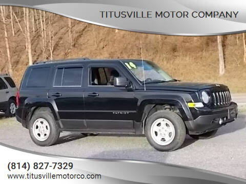 2014 Jeep Patriot for sale at Titusville Motor Company in Titusville PA