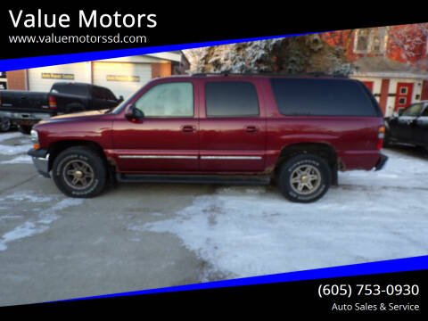 2002 Chevrolet Suburban for sale at Value Motors in Watertown SD