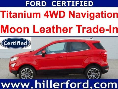 2019 Ford EcoSport for sale at HILLER FORD INC in Franklin WI