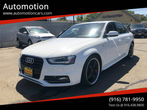 2014 Audi A4 for sale at Automotion in Roseville CA