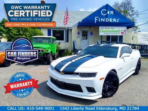 2015 Chevrolet Camaro for sale at CAR FINDERS OF MARYLAND LLC - Certified Cars in Eldersburg MD
