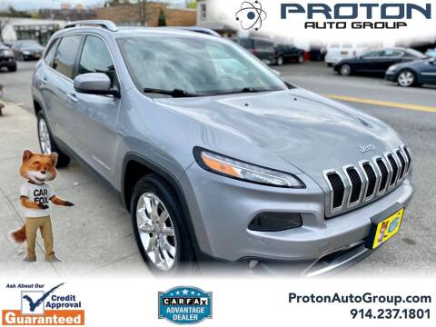 2015 Jeep Cherokee for sale at Proton Auto Group in Yonkers NY