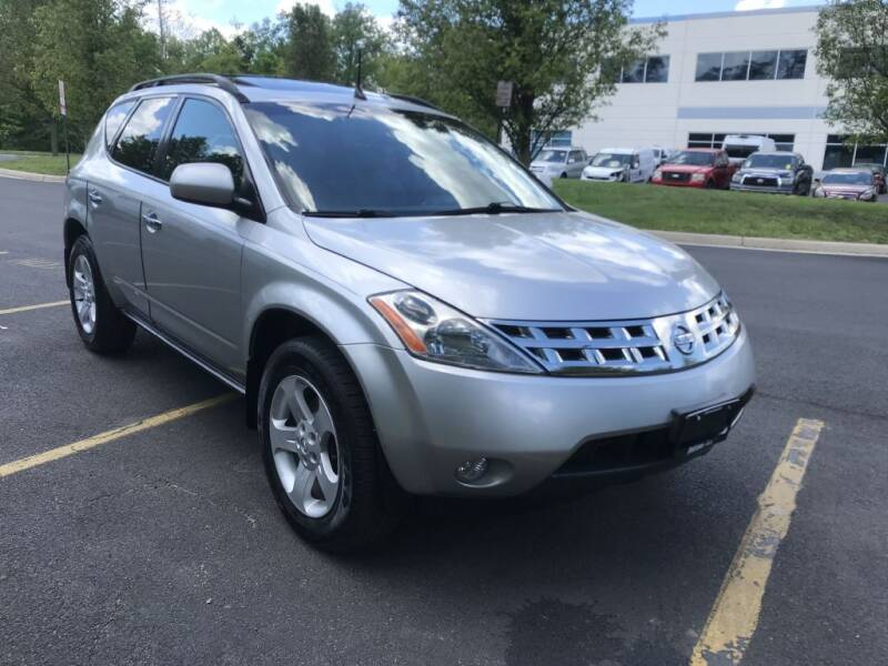 2004 Nissan Murano for sale at Dotcom Auto in Chantilly VA