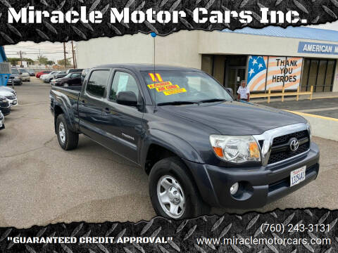 2011 Toyota Tacoma for sale at Miracle Motor Cars Inc. in Victorville CA