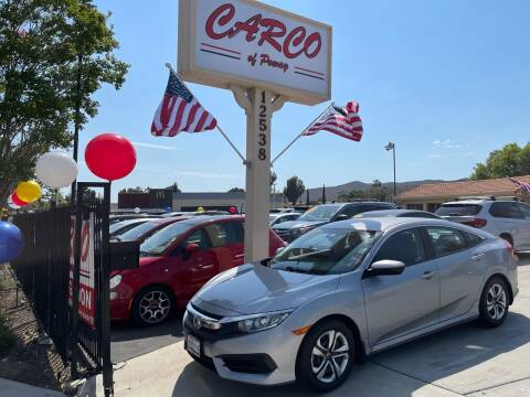 2016 Honda Civic for sale at CARCO SALES & FINANCE - CARCO OF POWAY in Poway CA