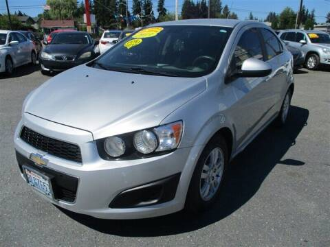 2013 Chevrolet Sonic for sale at GMA Of Everett in Everett WA