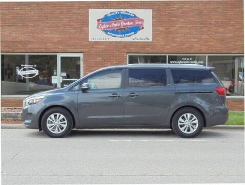 2016 Kia Sedona for sale at Eyler Auto Center Inc. in Rushville IL